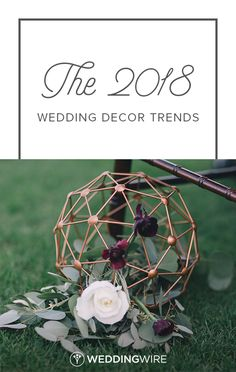 The 2018 Wedding Decor Trends - The 2018 wedding decor trends are shaking things up, big time. Brace yourselves for color — and lots of it — in the form of neon signs, geometric details, and more. See our favorite trends on WeddingWire! {Black & Hue Photography}