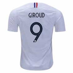 30976a5a3 2018 World Cup Jersey France Away Giroud Replica White Shirt 2018 World Cup  Jersey France Away Giroud Replica White Shirt