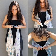 10 Ways To Make A Vest From Long Scarves. #tipit