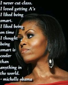 Nuff said...thank you First Lady Michelle Obama