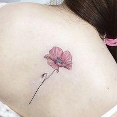 """Mi piace"": 4,528, commenti: 28 - 타투이스트 꽃 (@tattooist_flower) su Instagram: ""poppy…"""