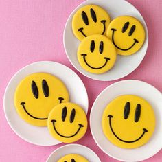 Smiley Face Cookies - ***** Makes 10 (3 1/2 inch) cookies.
