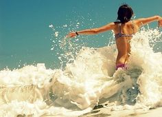 *Nothing like the waves hitting your body. It's a feel good moment.