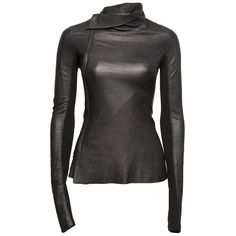 Alexander Wang Leather Shirt ($438) ❤ liked on Polyvore