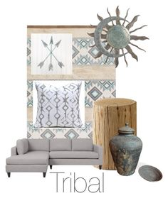 """Tribal"" by jordan-vinyard ❤ liked on Polyvore featuring interior, interiors, interior design, home, home decor, interior decorating, Alden and tribaldecor"