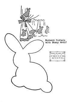 Free Applique Patterns | free applique pattern – bunny rabbit