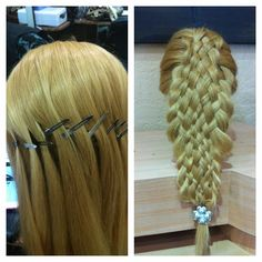 Before  & After ...11 Strand Braid!   by Hairsbychristine.com