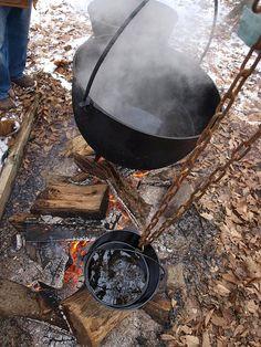 Three Pot System of boiling maple sap, Malabar Farm Sugar Maple Festival