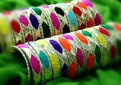 Gota and thread bangles