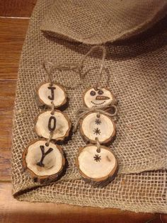 Wood Burned Snowmen Christmas Ornaments by BurnwoodCreations