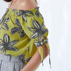 Blusa Estampa Nauru - enjoy Fashion Wear, Womens Fashion, Pretty Outfits, Pretty Clothes, Dress Patterns, Boho Shorts, Ideias Fashion, Anthropologie, Chiffon