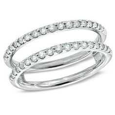 1/2 CT. T.W. Diamond Open Guard in 14K White Gold - View All Rings - Zales