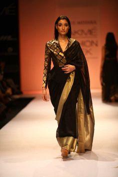 Rahul Mishra - Chanderi sari. Bridelan - a personal wedding shopper & stylist. Website www.bridelan.com #Bridelan #sari