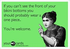 Rules to Wearing a Bikini  Check out more funny pics at killthehydra.com