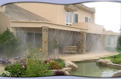 Patio Misters Patio Mister, Outdoor Kitchen Plans, Home On The Range, Back Patio, Outdoor Living, Arizona, Pergola, New Homes, Backyard