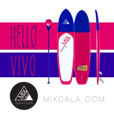 """[ HELLO VIVO ] What's your color? MixCaLa Vivo is painted in a dark plum, vivid fuchsia duotone and finished with a glass-like varnish. Only weight 26 lbs. We use 100% real bamboo so one can enjoy the flexibility while surfing without sacrificing the durability. Get the high quality bamboo SUP Paddleboard with style. Check out more color combination & matching Paddles. What's Your CALA? Mix Your Own """"CaLa"""" only at MIXCALA.COM #SUP #Paddleboard #SUPYoga #SUPfitness #Fitness #Yoga #Fashion"""