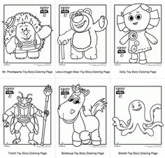 BEST Toy Story Party Ideas - For a fun Toy Story Birthday Party Cctivity, print some Toy Story 3 coloring pages - Toy Story Theme, Toy Story 3, Toy Story Birthday, Toy Story Party, 3rd Birthday, Birthday Ideas, Cumple Toy Story, Festa Toy Story, Bos Layer Toy Story