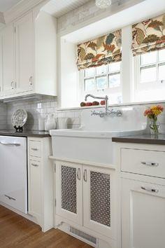 Roman Shades Vintage Kitchen Rehkamp Larson Architects