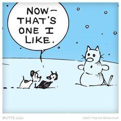 A snow kitty!