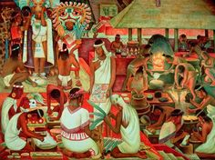 The Zapotec Civilisation, 1947 (mural) (see also 97394)