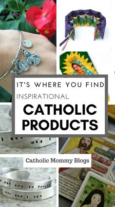 Catholic products: gifts, educational material for kids, devotional, rosaries, all made by Catholics in their homes. Support your brothers and sisters!