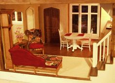 glencroft dollhouse interior ideas   much more traditional take on the living room   Dollhouse ...