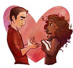 Victor Krum and Hermione Granger