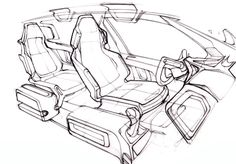 car interior design sketchesHow To  Car Sketch Interior With Josh Reed…