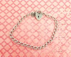 Vintage sterling silver padlock bracelet with safety chain and curb links, grams by CardCurios on Etsy You Are Amazing, Ginger Jars, Fashion Books, Link Bracelets, Absolutely Gorgeous, Safety, Sterling Silver, Chain, Etsy
