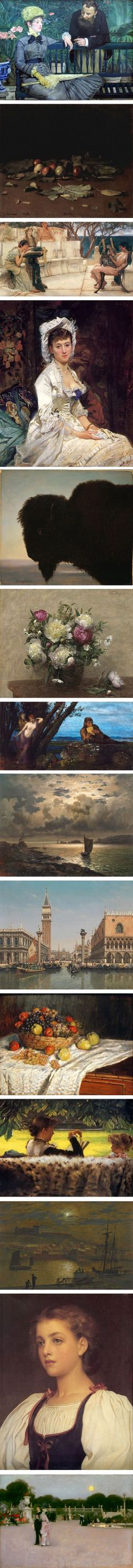 Paintings from 1879 made by {from top to bottom}: Édouard Manet, Ilya Repin…
