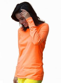 Burst, Med Couture Long Sleeve Tee Shirt Neon | #nurse #fashion | #neon #style | #medical #apparel