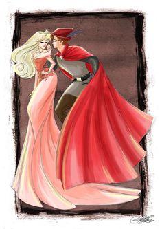 Aurora and Phillip by SilverCatseyes on deviantART