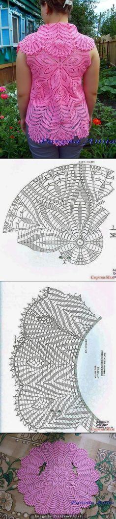 Crochet lace circular vest ~~