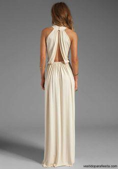 Elegantes y modernos vestidos largos de fiesta con escote en la espalda – 14