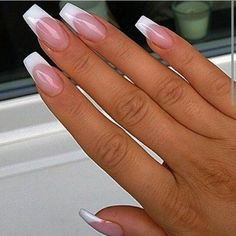 nice French tip nails...