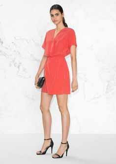 & Other Stories Wrap Mini Dress in Red