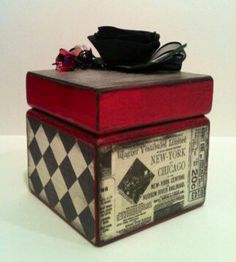 Burlesque inspired decorative box altered box by PeriwinkleAlley