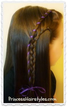 Candy stripe waterfall and lace braid combination
