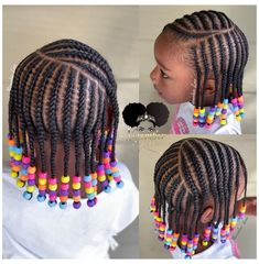 Black Kids Braids Hairstyles, Little Girls Natural Hairstyles, Toddler Braided Hairstyles, Toddler Braids, Cute Little Girl Hairstyles, Baby Girl Hairstyles, Kids Cornrow Hairstyles, Children Hairstyles, Little Girl Braid Styles