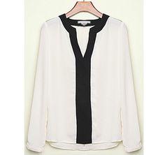 Blusa holgada con cuello en forma de V
