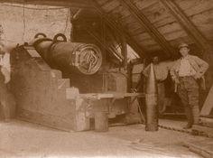 WW1, Alsace, 1916: A 1884 model 240mm gun.