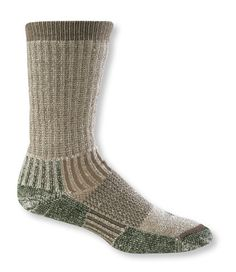 Socks designed specifically to fit with Bean Boots by L.L.Bean® and the Maine Hunting Shoe®. Testers applauded the comfortable flat toe seam and odor-fighting X-Static fibers of our thickest socks. Soft merino lambswool and CoolMax® wrap your foot in warmth and wick away moisture so your feet stay dry and comfortable. Stretch nylon/Lycra® elastane blend helps socks keep their shape over time. USA. Machine wash and dry.