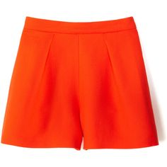 Mother of Pearl Nyos Virgin Wool Shorts In Orange ($450) ❤ liked on Polyvore