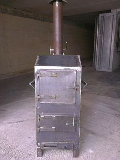 Wood-Fired Portable Oven by duncan.briffa -- dear all, this is my latest creation. It is a portable wood-fired oven ideal for camping. Wood Burner Stove, Diy Wood Stove, Wood Stoves, Mini Stove, Stove Oven, Rocket Mass Heater, Oven Diy, Welding Projects, Wood Projects
