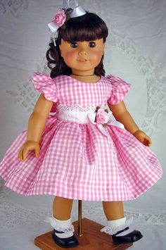"American Girl, American Girl dress, American Girl doll, American Girl clothes, 18 inch doll dress, 18"" doll clothes. by ADollsFancy"