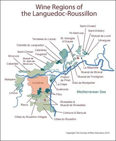 Click here to download a pdf of SWE's wine map of: Figure 9-31 Languedoc Roussillon Note: The maps and diagrams on this site are the intellectual property of the Society of Wine Educators. Th…