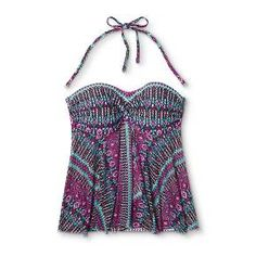 Swim in style with Merona's mesh flyaway bandeau tankini. Interior molded cups offer perfect support, while the empire cut flyaway designed with mesh creates the airy, flattering silhouette you've been looking for. Wear this versatile, trendy top with ease on and off the beach!