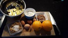 Vandaag de sinaasappel brownies van masterchef (Tamara) maken