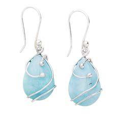 Ten Thousand Villages amazonite earrings,   Ohhh, pretty.