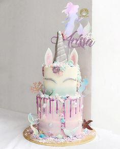 Eldoris de Esme specially for Princess 🦄💕🧜🏻♀️ Birthday Cake Girls, Unicorn Birthday Parties, Princess Birthday, Sequin Cake, Gateaux Cake, Unicorn Cupcakes, Mermaid Cakes, Cake Trends, Drip Cakes